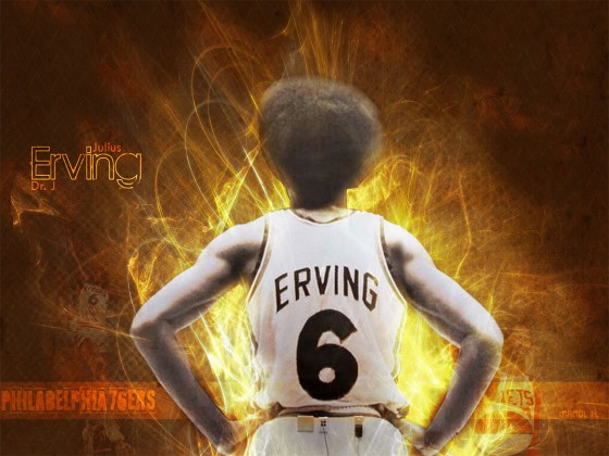 "Julius Erving, ""Dr. J"" on www.greatamericanthings.net"
