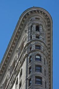 The Flatiron Building, a New York City architectural gem.