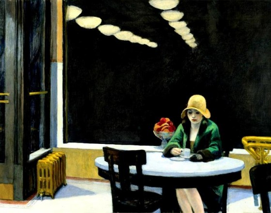 Automat by Edward Hopper, www.greatamericanthings.net