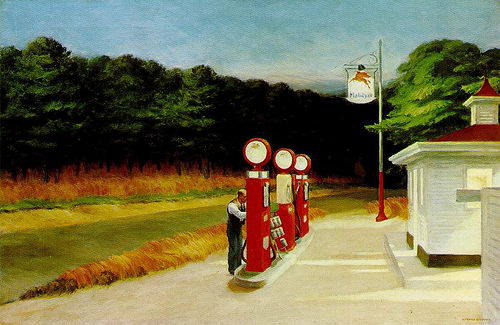 Gas by Edward Hopper, www.greatamericanthings.net