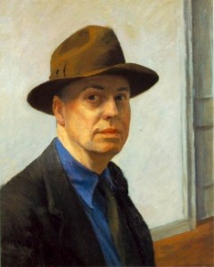 Edward Hopper Self-Portrait, www.greatamericanthings.net