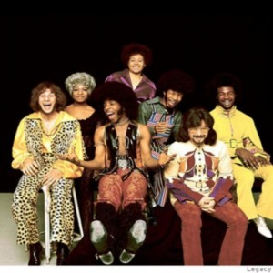 Sly and the Family Stone during good times. Uploaded by hilarysheperd.com.