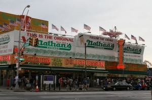 Nathan's Famous in Coney Island, www.greatamericanthings.net