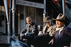John Ford directs Jimmy Stewart and John Wayne, www.greatamericanthings.net