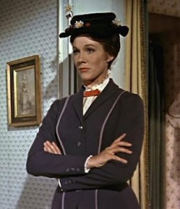 Julie Andrews in Mary Poppins, www.greatamericanthings.net